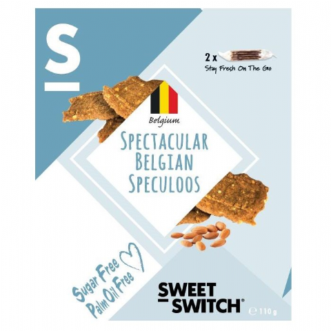 Spectacular Belgian Speculoos Speculaas Biscuits No Added Sugar Free SWEET SWITCH 110g